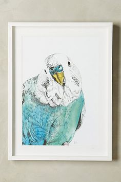 Discover unique Art at Anthropologie, including the seasons newest arrivals. Bird Prints, Wall Prints, Home Themes, Mirror Wall Art, Blue Home Decor, Bird Pictures, Cockatoo, Bird Art, Color Themes