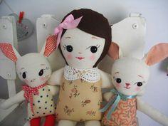 SWEET CLASSIC RAGDOLL Handmade cloth doll rag by PalookaHandmade