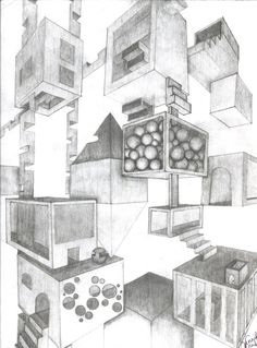 Final project for space and value? Grade 9 art| Two Point Perspective by Ritawolf on deviantART