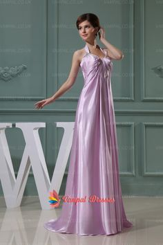 135.00$  Buy here - http://vipoy.justgood.pw/vig/item.php?t=ucdina2798 - Lilac Halter Neck Beaded Floor Length Prom Dresses 135.00$