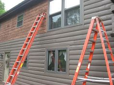 Gray for my log cabin on the lake rustic modern for Log cabin exterior stain colors