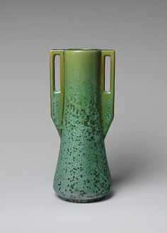 Fulper Pottery Company (1814–1935.) Date: ca. 1912–15. Geography: Mid-Atlantic, Flemington, New Jersey, United States. Earthenware. Dimensions: H. 11 in. (27.9 cm); Diam. 5 1/2 in. (14 cm.) Met Museum