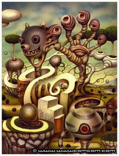 Naoto Hattori's surreal and twisted paintings