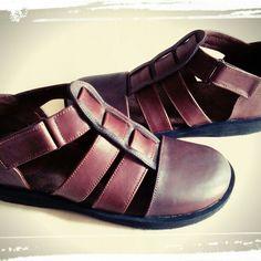 Handmade leather sandal shoes