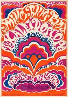 psychedelic lettering font | Steve Miller Blues Band poster... I just like psychedelic fonts :)