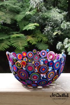 This has been such a popular size and style of bowl. Adding all of the colours into a single piece, is a great way to create huge impact from a smaller piece. Paper Bowls, Paper Artist, Single Piece, Decorative Bowls, Art Pieces, Just For You, Colours, Shapes, Popular