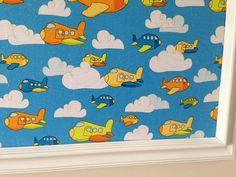 Airplane Pin Board Cork Board Bulletin Board by Sisters4Style