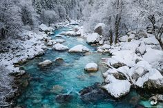 The Soča river in Slovenia, captured on a cold winter morning after a fresh snowfall. Picture taken during my last winter photography workshop in Slovenia: http://adriatic2alps.com/portfolio/winter-photography-workshop-slovenia/