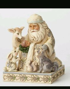 Miracle in The Moonlight White Woodland Santa with Baby Jesus Jim SHORE4053687 | eBay