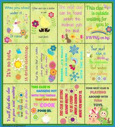Free Easter egg hunt clues printable