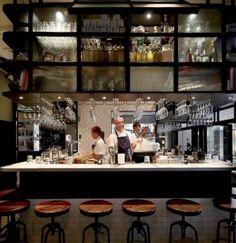 restaurant kitchen 46 Ideas For Kitchen Open Restaurant Bar Designs Open Kitchen Restaurant, Small Restaurant Design, Deco Restaurant, Restaurant Interior Design, Seafood Restaurant, Design Café, Cafe Design, Design Ideas, Bar Designs