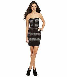 GB Strapless Lace Panel Dress #Dillards