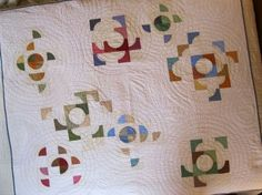 Cool negative space quilt