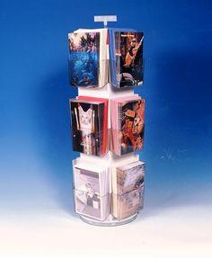 Display Racks 12 pocket 5x7 4x6 3x5 Acrylic Spinner Counter Greeting Card USA