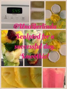 Sculpted for a successful day. Smoothie!  5:45 am... Prep smoothie and related snacks...pineapple, beets, beet leaves, broccoli, celery, peeled lemon, cucumber... Tiny pieces of pineapple and cucumber for my water at work... Happy Wednesday!