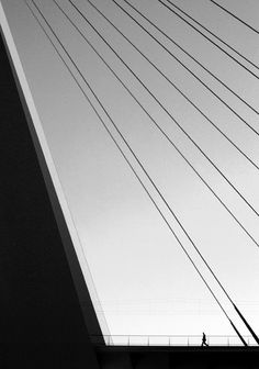black and white, photography, bridge, silhouette figure, we are small Line Photography, Minimal Photography, Abstract Photography, Street Photography, Monochrome Photography, Black White Photos, Black N White, Black And White Photography, White Man