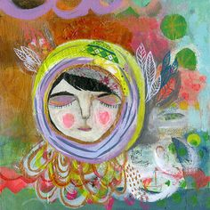 Explore  Original Mixed Media Painting 12x12 by MatiRoseStudio, $275.00