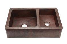 Medium Double Well - 60/40 - Copper Farmhouse Sink - CopperSinksOnline ,Price: $997.00, From www.coppersinksonline.com