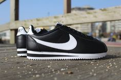 "Nike Cortez Leather ""Black/White"""