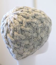 Knitting Pattern: Polonaise Hat pattern PDF cable by minimissimi
