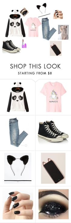 """""""May mays outfit"""" by nikkimayo on Polyvore featuring WithChic, Converse, Incoco and Lime Crime"""