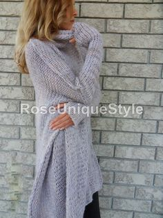Chunky Oversized women knit sweater. by RoseUniqueStyle on Etsy