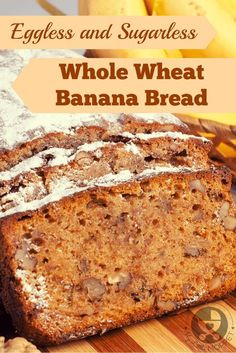 Whole Wheat Banana Bread Recipe with Jaggery for Kids Banana bread is a great way to use overripe bananas. Skip the white flour and sugar and make this healthier eggless whole wheat banana bread recipe with jaggery. Healthy Cake Recipes, Healthy Baking, Baby Food Recipes, Baking Recipes, Dessert Recipes, Drink Recipes, Toddler Recipes, Healthy Desserts, Cookie Recipes