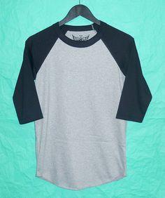 Baseball Shirt short sleeve tshirt women shirts men tshirt apparel teen fashion plain baseball shirt blank shirt gray tshirt by BlackTeenFashion