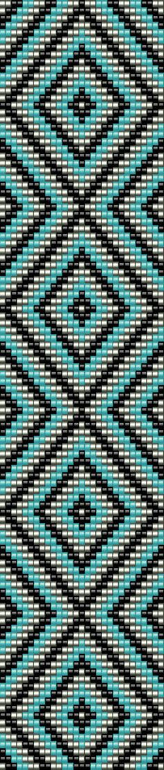 Loom pattern  bead cuff bracelet  seed bead pattern  digital pattern                                                                                                                                                     More