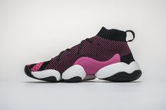 "6f8e9982227bd Pharrell X Adidas Crazy BYW ""Solar Pink"" G28182 Pink Basketball Shoes"