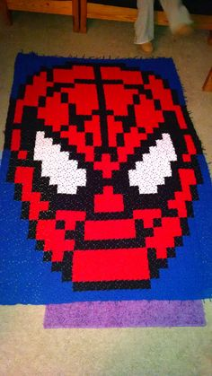 Finally finished Spiderman... It's almost 5'x6' and definitely the most epic blanket I've crocheted to date.