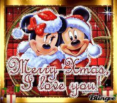 Christmas - Minnie and Mickey mouse gif