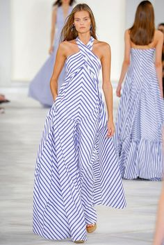 45 Ralph Lauren Spring 2016 Ready-to-Wear Collection Photos - Vogue Fashion Mode, Runway Fashion, High Fashion, Fashion Show, Fashion Looks, Womens Fashion, Fashion Trends, Fashion 2016, Trendy Fashion