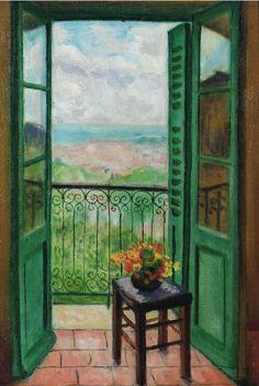 Albert Marquet - Fenêtre ouverte sur la baie d'Alger (1943)