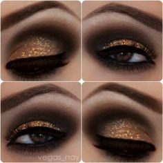 26 Ways To Make Glitter Your New Smokey Eye ❤ liked on Polyvore featuring beauty products, makeup, eye makeup, glitter, glitter makeup, glitter cosmetics and glitter eye makeup