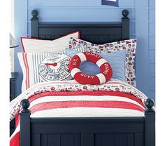 Nautical bedding by Land of Nod. Have this for my baby and love it dearly. May just put it on my bed when he out grows :)