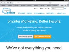Pardot.com. Aquired by salesforce Marketing Automation, Inbound Marketing, Tour Guide, Success, App, Business, Apps, Store, Business Illustration