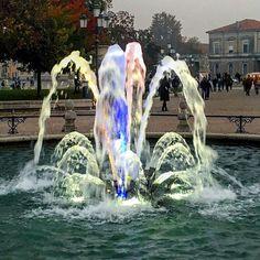 Giochi d'acqua in Prato della Valle  #adhocband #enjoy #live #music #rock #fontane #Padova
