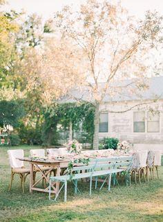 beautiful setting #shabbychic #wedding #prairie