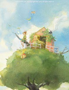 By Kim Min Ji Peter Pan illustration