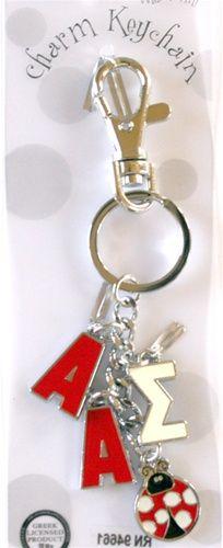 Alpha Sigma Alpha Charm Keychain