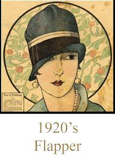 1920's ~ Flapper http://lasombrereradeladymarlo.blogspot.com.es/