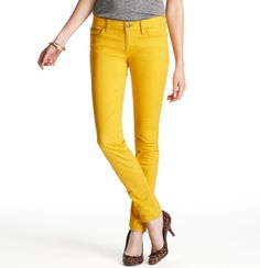 I wish it were even remotely possible for me to pull off yellow jeans..or yellow anything..