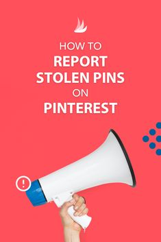 Dealing with stolen Pins on Pinterest is certainly frustrating, but you have options! Find out exactly how to report stolen Pins on Pinterest without hurting your Pins. #pinteresthelp #pinteresttips #pinterestmarketing via @tailwind Business Marketing, Content Marketing, Business Tips, Social Media Marketing, Online Business, Digital Marketing, Marketing Strategies, Pinterest For Business, Hacks