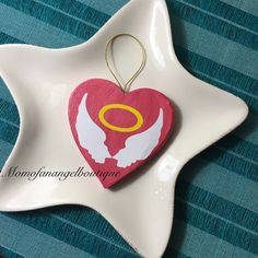 Angel Baby Wings Heart Memorial Ornament by momofanangelboutique