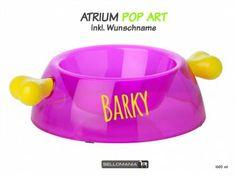 Wasser- & Futternäpfe für Hunde & KatzenBellomania Hundenapf: Knochen Atrium POP ART -Bark- inkl. Wunschdruck