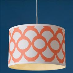 Young House Love Scallop Print Drum Shade Pendant - 16