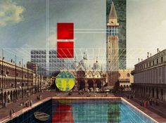 Drawing With Music Adrian Labaut Hernandez Interview W… Architecture Board, Architecture Graphics, Futuristic Architecture, Architecture Design, Drawing Architecture, Photomontage, Urban Design Concept, Conceptual Drawing, Architectural Section