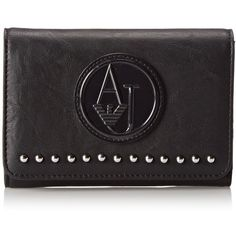 Armani Jeans ZY Studded Small Wallet ($115) ❤ liked on Polyvore
