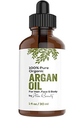 Virgin Argan Oil ★ Premium Quality 100% ECO Certified Organic For Hair, Skin, Face & Nails - Best Moroccan Anti-Aging, Anti-Wrinkle, Anti-Oxidant Beauty Secret - Prevents Frizz & Increases Natural Hair Shine & Silkiness - Natural Skin Care Products for Women and Men - Nature's Best Beard Oil - Moisturizer for Dry Skin & Cuticles - Pure Oil not a Cream or Serum - USDA & EcoCert Certified - ONE YEAR Satisfaction Guarantee AriaStarrBeauty ...
